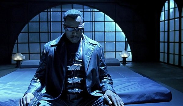 Blade Wesley Snipes sitting on his bed thinking