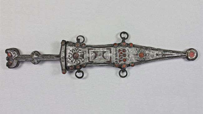 The 2,000-year-old dagger and sheath.
