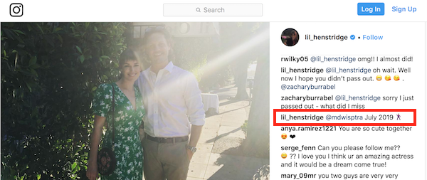 Elizabeth Henstridge Instagram via Screengrab