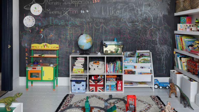 Playroom idea with chalkboard wall