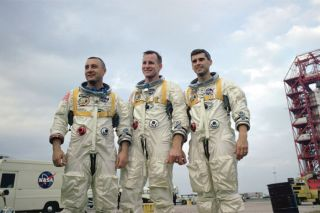 First manned Apollo flight prime crew