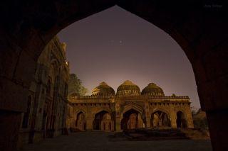 Jupiter Venus India Night Sky Image Talwar