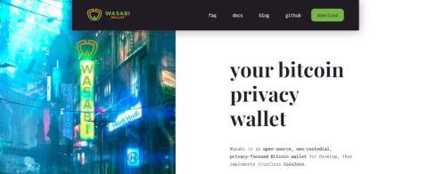 screenshot of Wasabi Wallet