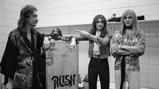 Rush backstage