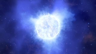 An artist's impression of the the luminous blue variable star that mysteriously vanished.