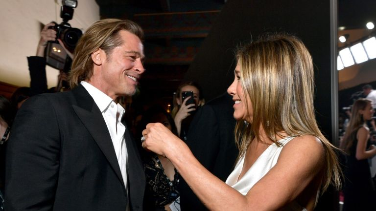 Brad Pitt and Jennifer Aniston attend the 26th Annual Screen ActorsGuild Awards at The Shrine Auditorium on January 19, 2020 in Los Angeles, California