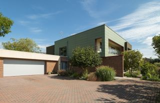 exterior of a modern Passivhaus self build home in Wales