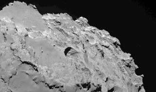 Sinkholes on Comet 67P Image