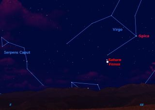 Venus and Saturn November 2012 Sky Map