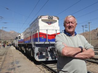 Chris standing in front of the Dogu Express in Ankara