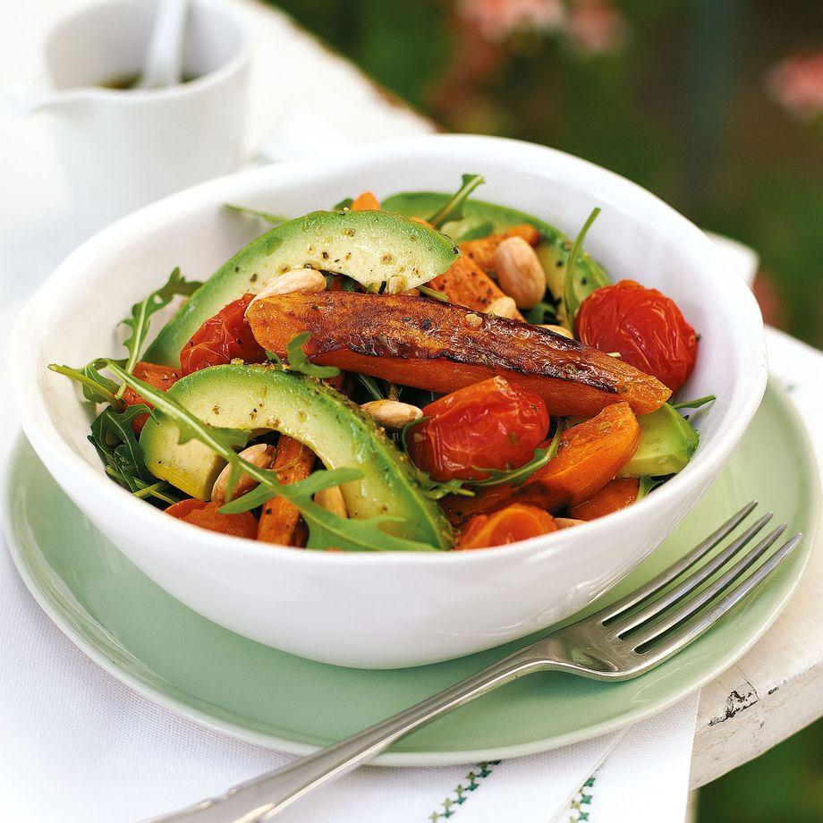 Roasted Sweet Potato and Almond Salad Recipe