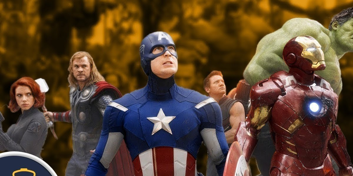 The Avengers, looking mighty