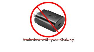 Samsung Galaxy S21 no charger in box