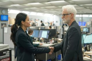 Fernanda Andrade (left) and John Slattery in Fox's 'Next'