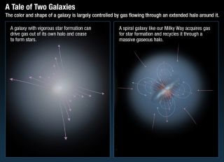 Diagram: A Tale of Two Galaxies