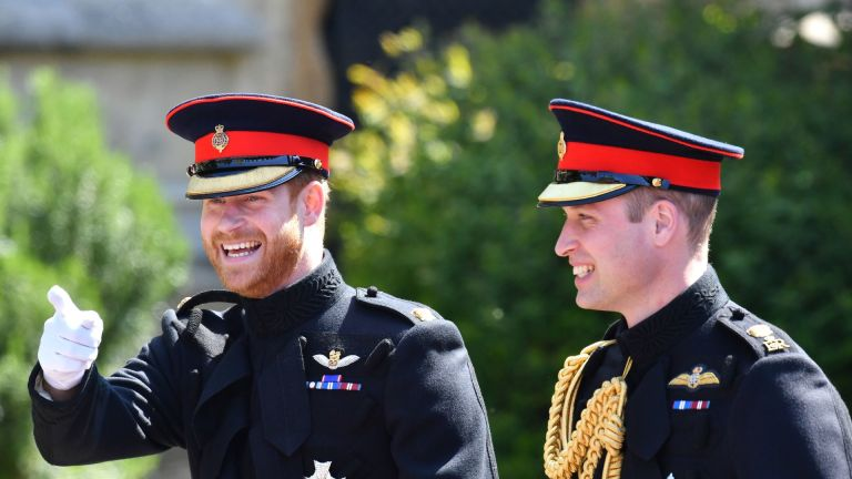 Prince Harry and Prince William on Harry's wedding day