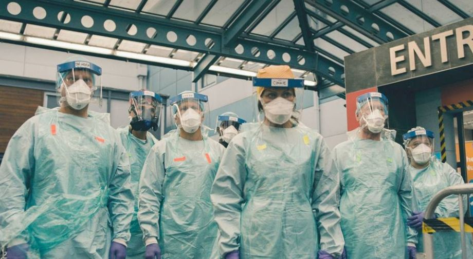 Casualty cast in protective gear as show returns in 2021