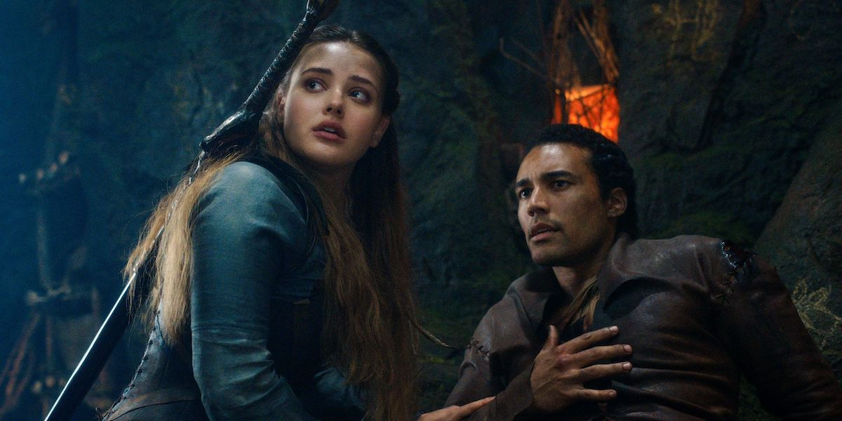 Katherine Langford and Devon Terrell as Nimue and Arthur in Cursed