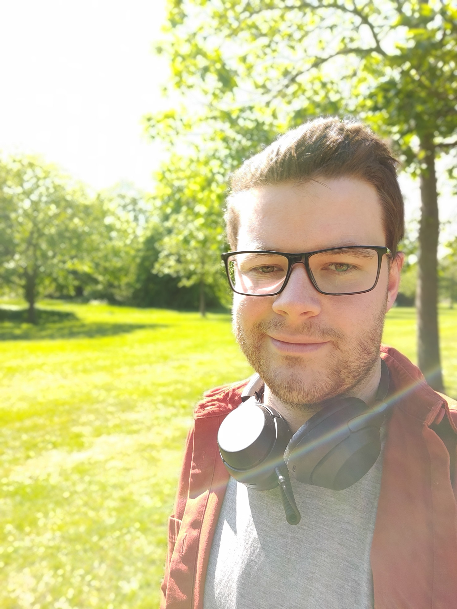 A selfie in Portrait mode