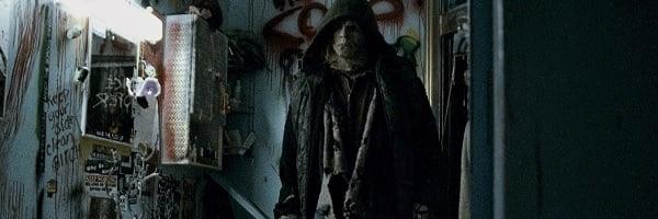 Halloween II (2009) Michael Myers inspects the bathroom