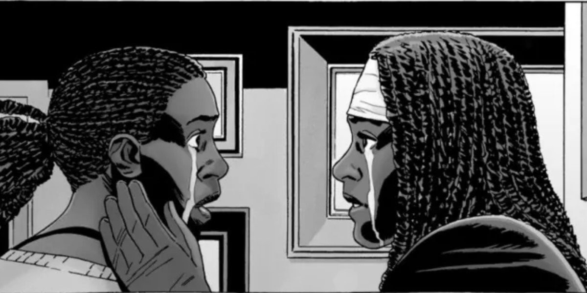 michonne and elodie reuniting in the walking dead comic