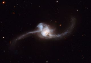 Hubble Spies Energetic Galaxy Merger