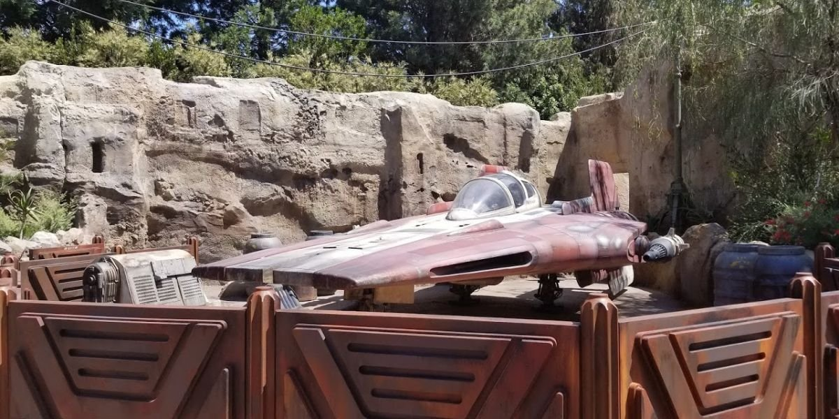 A-Wing at Star Wars: Galaxy's Edge