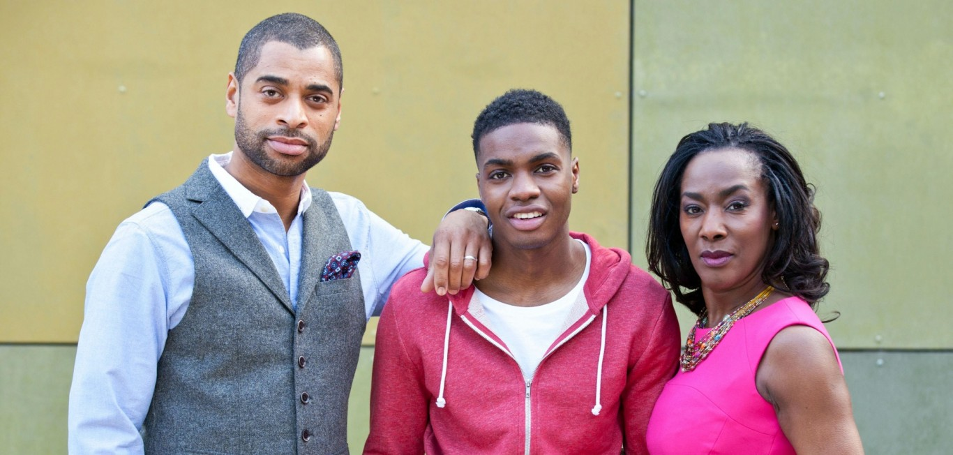 Simone Loveday (Jacqueline Boatswain), her husband Louis (Karl Collins) and their son Jack (Duayne Boachie)