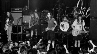 Pearl Jam play live at the ULU (University of London Union), London, 2nd March 1992.