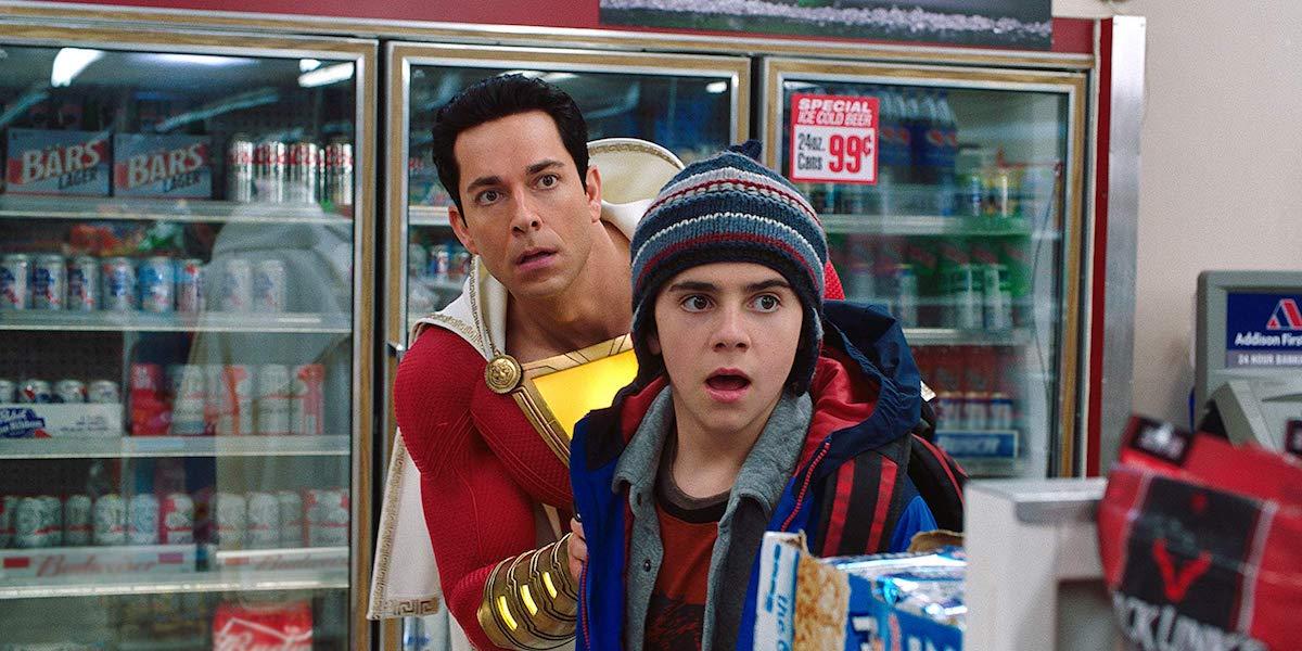 Zachary Levi and Jack Dylan Grazer in Shazam!
