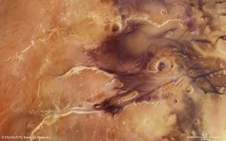Kasei Valles Mosaic space wallpaper