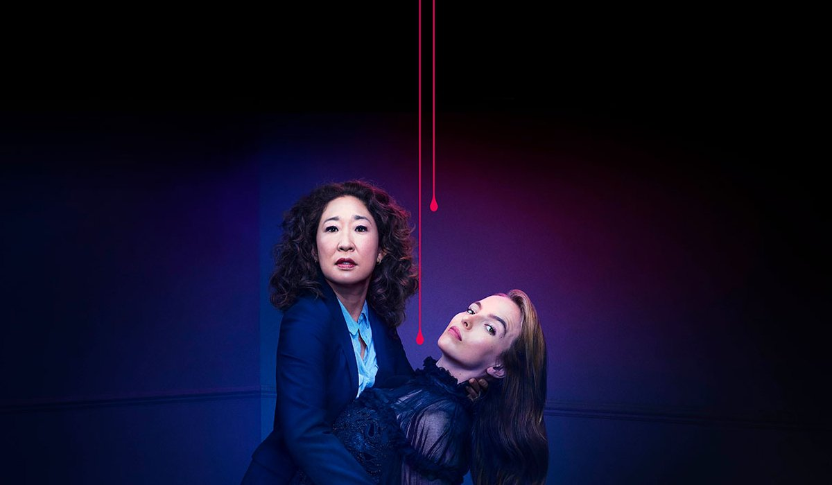 Killing Eve Jodie Comer in Sandra Oh's arms