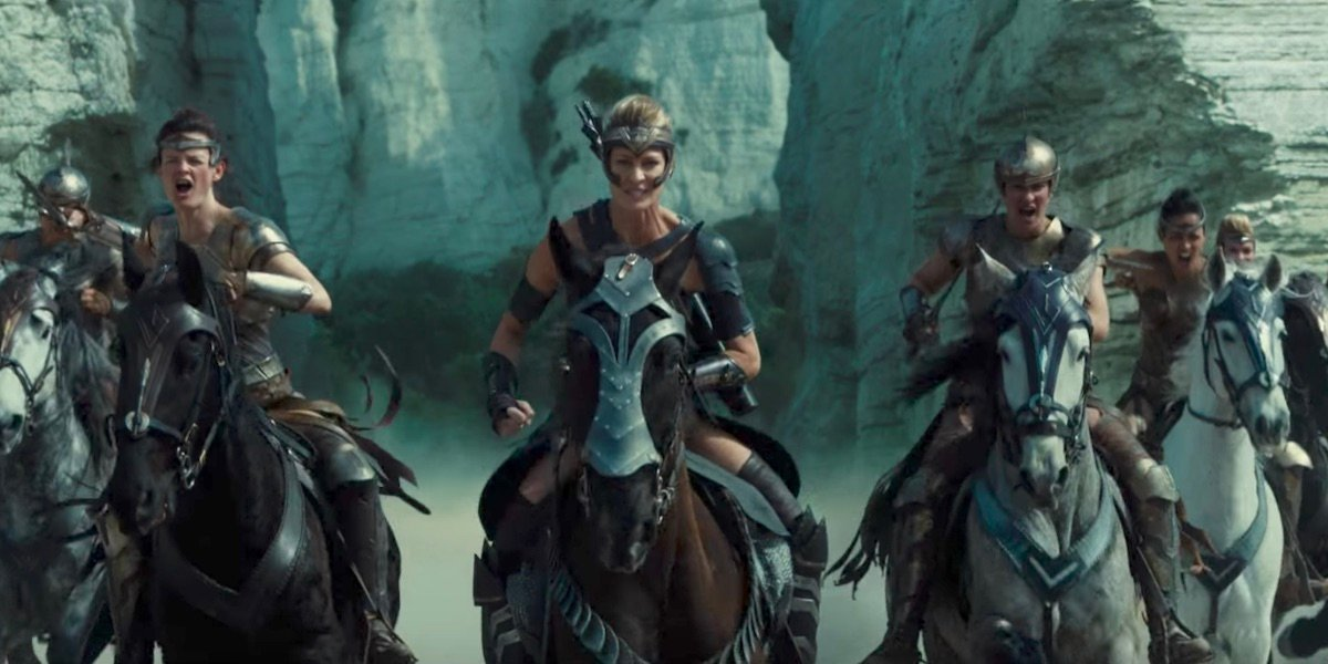 Amazons in Wonder Woman movie