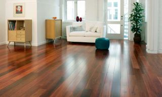 Engineered wood flooring in living room