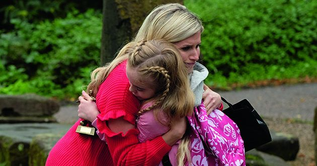 Luke Morgan and Mandy Richardson go to visit Ella in Chester in Hollyoaks.