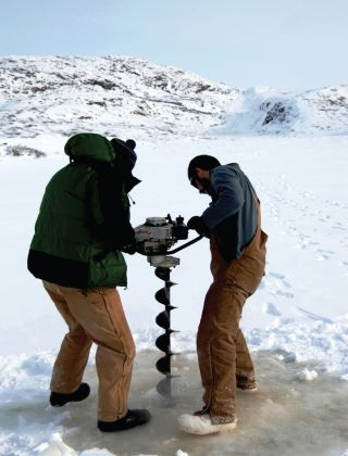 Researchers drill into a Greenland glacier in a hunt for microbes