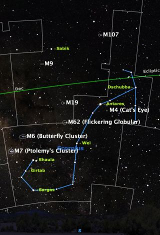 Scorpius Sky Map, June 2014