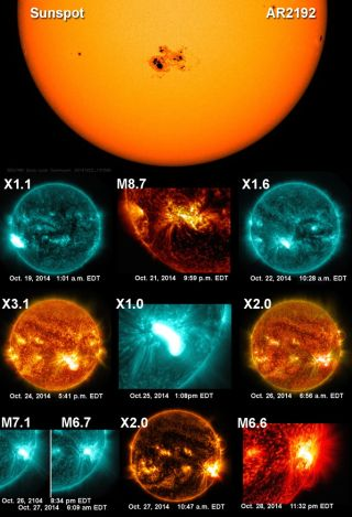 'Supersunspot' AR2192 Flares