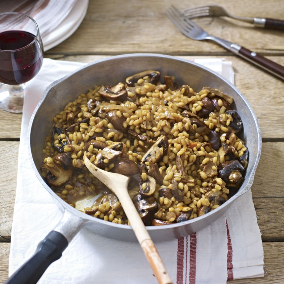 Pearl Barley And Mushroom Risotto Recipe