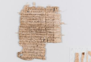 The ancient papyrus, shown here after it was cleaned and smoothed, holds medical text possibly written by the Roman physician Galen.
