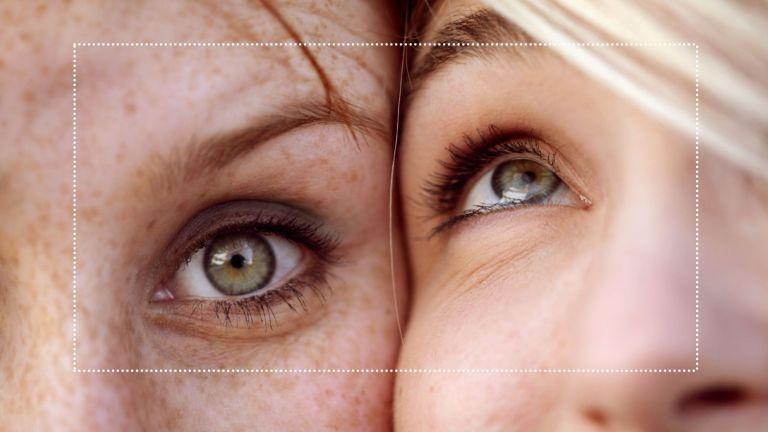 best mascaras for sensitive eyes main closeup image of two women's eyes