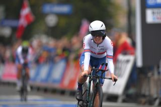 Anna Henderson was part of the bronze-medal-winning Great Britain team in the mixed relay team time trial at the 2019 UCI Road World Championships in Yorkshire