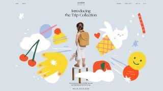 Ecommerce website design: Leader bag Co.