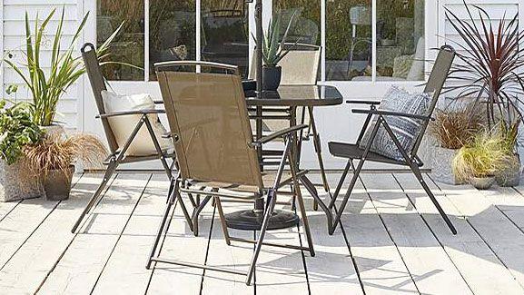 dunelm garden furniture: bronze set