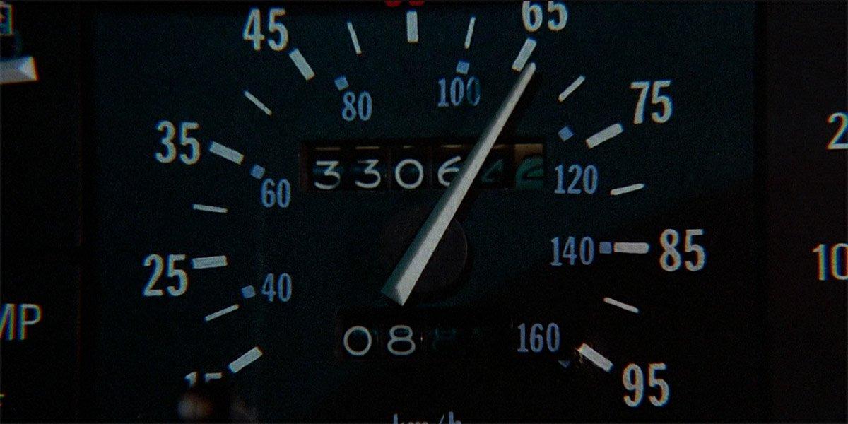 DeLorean Time Machine speedometer in Back To The Future