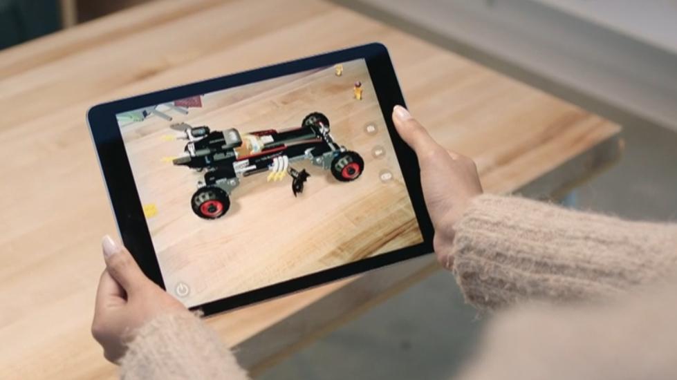 An AR app running on an iPad