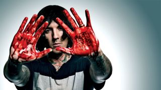 A press shot of Oli Sykes of Bring Me The Horizon in 2015