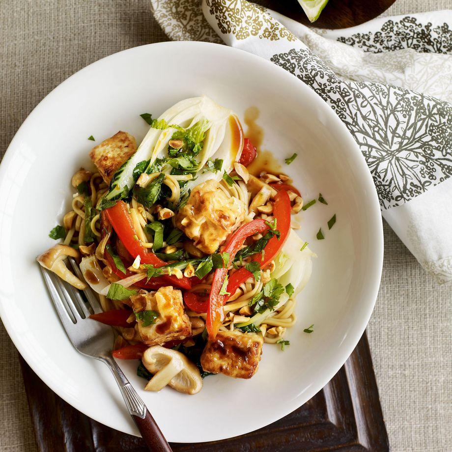 Tofu and Peanut Stir-Fry with Ramen Noodles Recipe