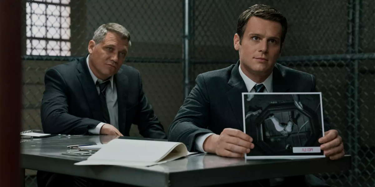 Holt McCallany and Jonathan Goff in Mindhunter