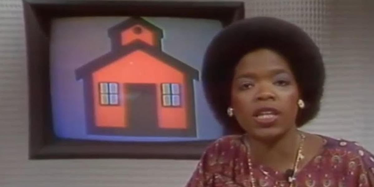 Oprah Winfrey anchoring on WJZ